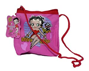 Licensed Betty Boop Hearts and Kisses Mini Handbag with String
