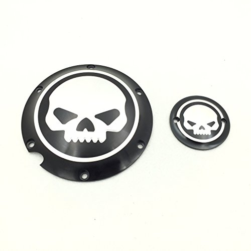 XKMT-Motorcycle Black Chrome Skull Engine Derby Timer Cover For For Harley Davidson XL1200C Sportster 883 XL 1200X Forty-Eight Seventy Two Roadster Iron (Sportster Timer Cover compare prices)