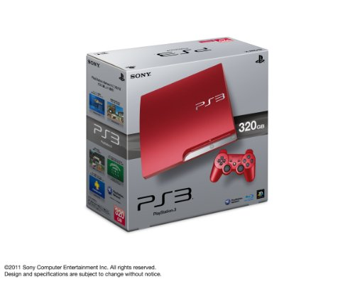 Playstation3 Slim Console (Hdd 320Gb Scarlet Red Model)[Japanese Import] front-1029579