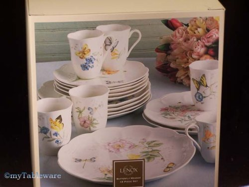 LENOX BUTTERFLY MEADOW 18 PC. DINNERWARE SET - Buy LENOX BUTTERFLY MEADOW 18 PC. DINNERWARE SET - Purchase LENOX BUTTERFLY MEADOW 18 PC. DINNERWARE SET (LENOX - BUTTERFLY MEADOW COLLECTION - Made in INDO, Home & Garden, Categories, Kitchen & Dining, Tableware)