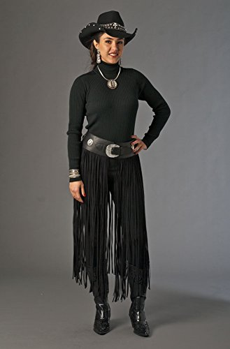 one-of-kind-hand-cut-and-handmade-black-western-wear-ultra-suede-conchos-belt-with-long-fringe