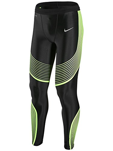 Nike Men's Power Speed Running Tight LG Black/Volt (Nike Power Band compare prices)