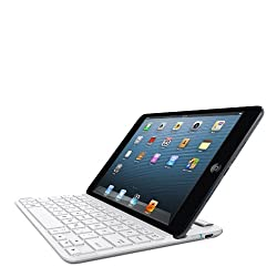 Belkin Apple Ipad Mini/ipad Mini Retina Fastfit Bluetooth Wireless Keyboard Case - White And Silver