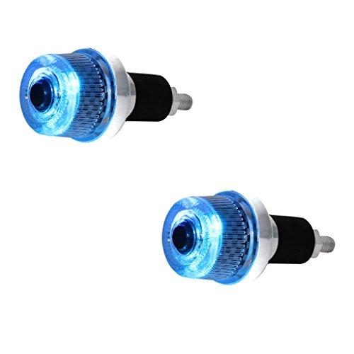 Speedwav Stylish Bike Handle Grip Edge BLUE LED Light-Bajaj
