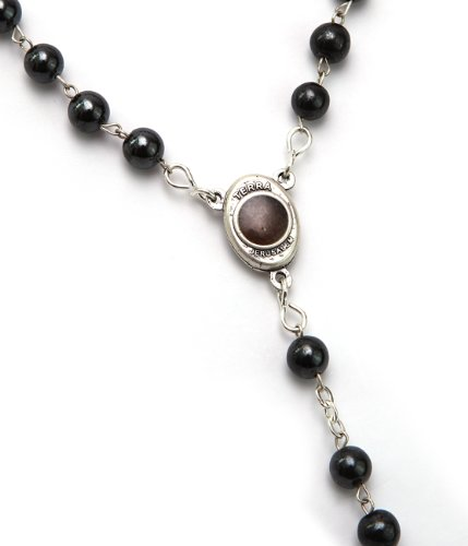 Hematite Healing Stone 7mm Beads Prayer Rosary Necklace For Men 27