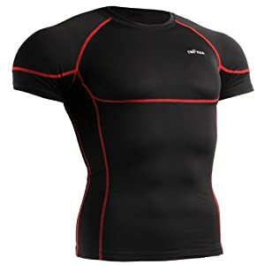 emFraa Homme Femme Sports Compression Black Tight Base layer Tee-Shirt Long sleeve S