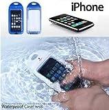 【全2色】iPhone 4 シリコン防水ケース ホワイト Waterproof Case for iPhone 4 (1032-1)