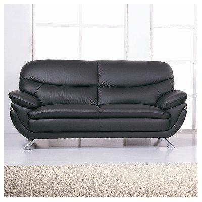 Jonus Sofa Color: Black