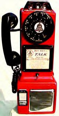 Antique Payphone - Automatic Electric In Red Add Internal Bell Ringer: Yes
