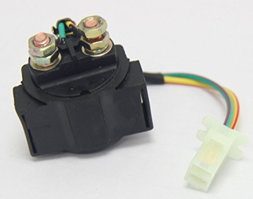Signswise Starter Relay SOLENOID for 4-stroke GY6 Engine 50cc 70 cc 90cc 110 cc 125cc 150 cc 200cc 250 cc ATV Dirt Bikes Scooters Go Kart Dne Buggys Quad 4 Wheelers Pit Bike Moped Roketa SSR Taotao Sunl Coolster (50cc Chinese Atv Starter Relay compare prices)