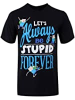 Adventure Time Stupid Forever T-Shirt Homme Noir Sous Licence Officielle