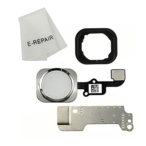Home Button Key Flex Cable Assembly with Rubber Ring Replacment Part for Iphone 6 and 6 Plus (Silver) (Parts Iphone 6 compare prices)
