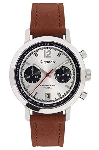 Gigandet Tramelan Orologio da Uomo Quarzo Cronografo Analogico Data Marrone Argento G10-004