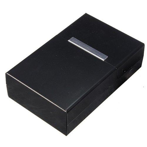 SODIAL(TM) Étui à cigarettes en aluminium Grande taille - noir