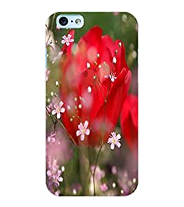 ColourCraft Love Flowers Design Back Case Cover for APPLE IPHONE 6S