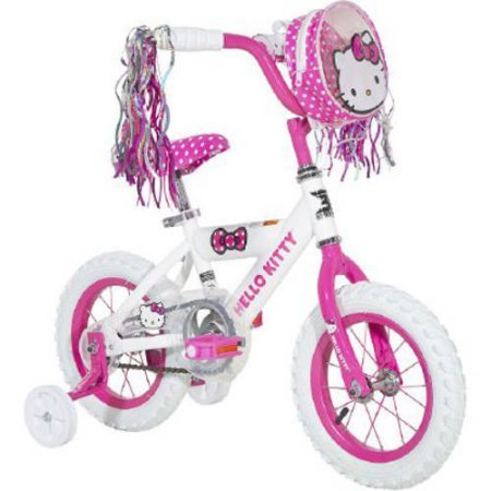 Hello-Kitty-8008-46-12-Dynacraft-Girls-Hello-Kitty-Bike-With-Special-Hello-Kitty-Bag-Attached-To-The-Handlebars-WhitePink-Color