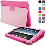 iPad 1 Case, Snugg™ - Cover with Flip Stand & Lifetime Guarantee (Hot Pink Leather) for Apple iPad 1