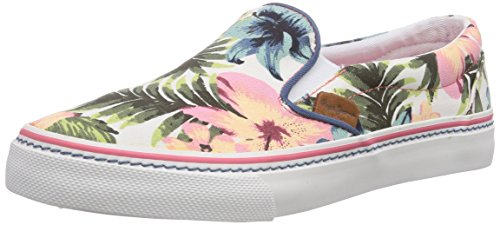 Pepe Jeans London ALFORD HAWAI, Low-Top Sneaker donna, Bianco (Weiß (800WHITE)), 39