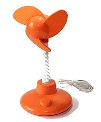 USB Foam Desktop Fan - Orange (Height Around 24cm)