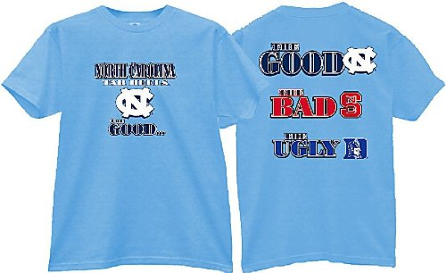 UNC Tarheels The Good Bad Ugly Short Sleeve T Shirt (L=44)