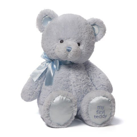 Baby GUND My First Teddy Bear Stuffed Animal Plush, Blue, 24 (Color: Blue, Tamaño: 24 Extra Large)