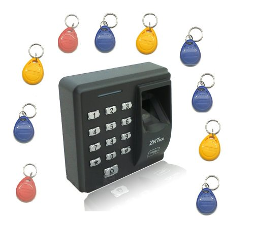 Zk Fingerprint Door Lock Entry + Id Card Biometric Access Control & Biometric Door Lock