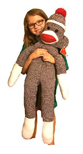 "The Original Sock Monkey 40"" Tall Jumbo Plush"