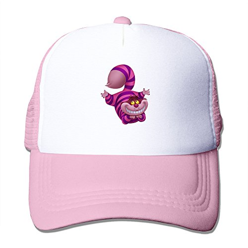 Geek Cheshire Cat Unisex Baseball Trucker Caps Hat Adjustable 100% Nylon Pink By JE9WZ