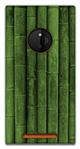 The Racoon Grip Green Bamboo hard plastic printed back case / cover for Nokia Lumia 830