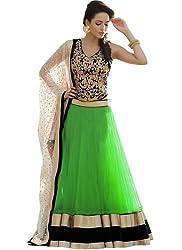 Fabron green designer embroidred lehenga for woman