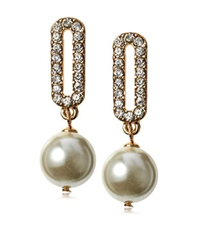 Stella & Ruby Deco Drop Pearl Earring