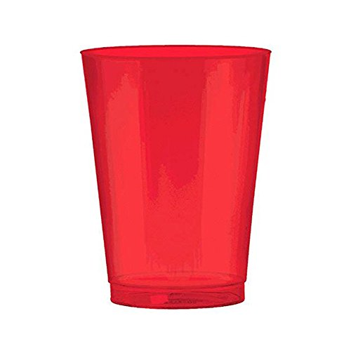 10 Ounce Shiny Red Plastic Cups. Pack Includes 100 Hard Plastic Red Party Cups. Great For Parties And Holidays!!