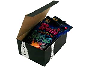 Trolli Sour Brite Octopus, 4.25 oz Bags in a Gift Box (Pack of 4)