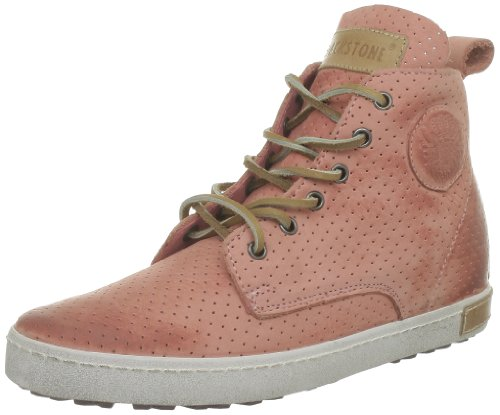 Blackstone PERFORATED HIGH High Top Women Pink Pink (Rosa Antico) Size: 7 (41 EU)