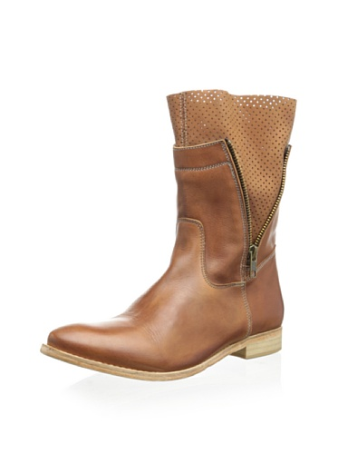 Modern Fiction Women's Zip Boot with Perforated Leather Detail