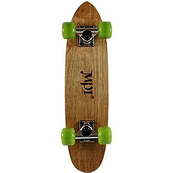 MPI Vintage NOS 1970S Old School Dark Wood Kicktail Cruiser Skateboard Complete, Multicolor