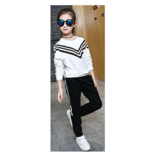 ftsucq-girls-navy-style-striped-pullover-sports-two-pieces-setwhite-120