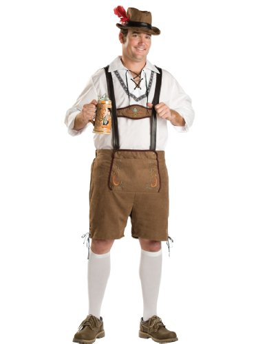 European Yodeling Costume Oktoberfest Mens Lederhosen Theatrical Mens Costume