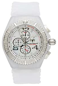 TechnoMarine Men's 108029 Cruise Magnum Diamond Chrono White Watch