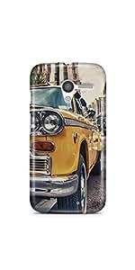 Casenation Vintage Yellow Car Motorola Moto X Glossy Case