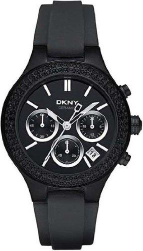 DKNY NY8186 - Reloj de pulsera mujer, caucho, color negro