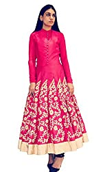 Rozdeal New Latest Pink Color Embroidered Designer Kurti