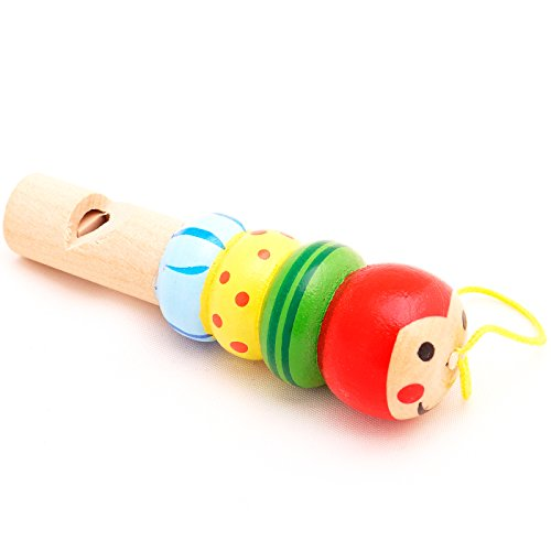 Mini Wooden Animal Whistle Worm T00075 - 1