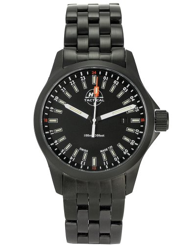 H3 Tactical Men's H3.542221.09 STEALTH MISSION Black Ion-Plated Stainless Steel Watch
