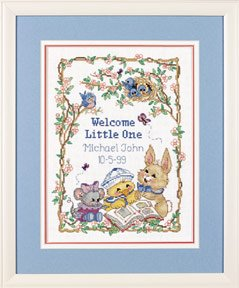 Welcome Little One Birth Record Counted Cross Stitch Kit, Craft Kit