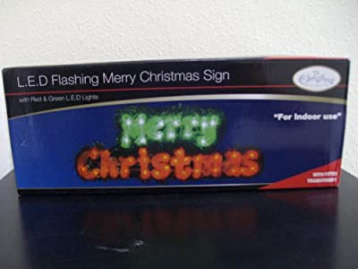The Benross Christmas Workshop 40 LED Christmas Sign, Red/ Green by Benross Group
