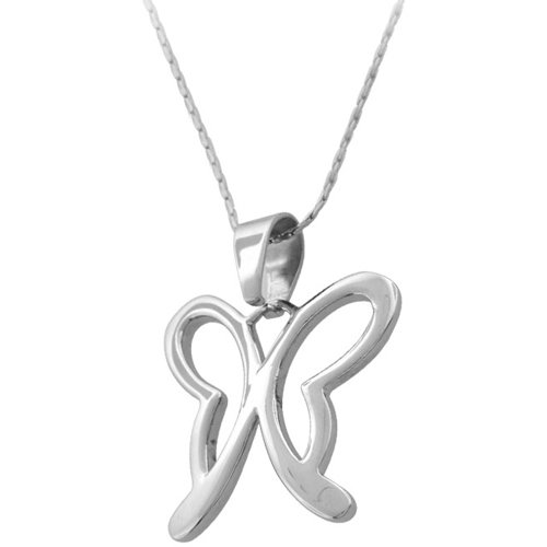 Inox Jewelry Women's Contempo Butterfly Pendant Necklace