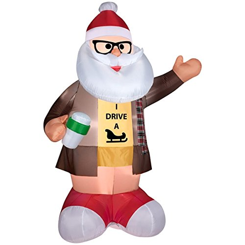 Airblown Inflatable 6.5' Hipster Santa Christmas Prop