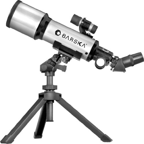 New BARSKA Starwatcher 400x70mm Refractor Telescope w/ Tabletop Tripod & Carry Case