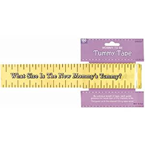 Amscan BB382381 Baby Shower Tummy Measure Game -Each